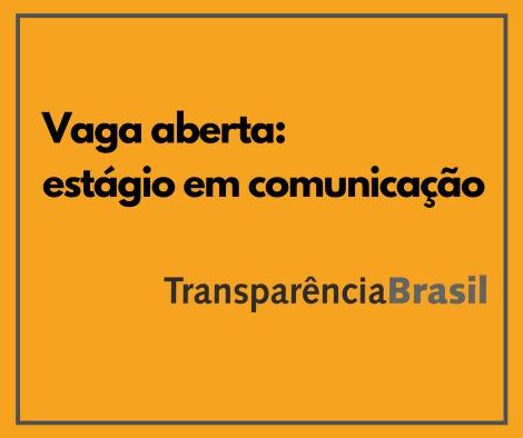 Vaga aberta: estágio em comunicação