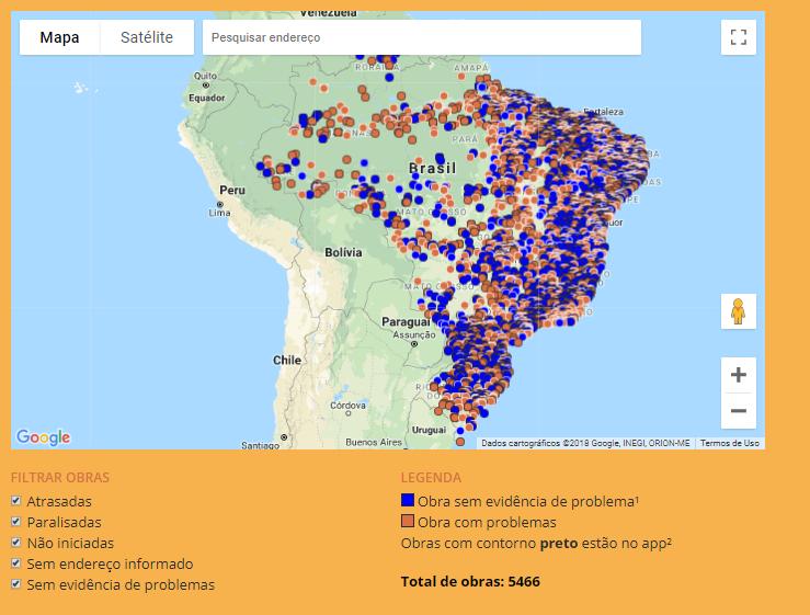 Campanha da Transparência Brasil notifica mais de 3 mil obras de escolas e creches com problemas